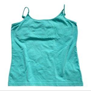 GAP stretch aqua blue spaghetti strap tank top